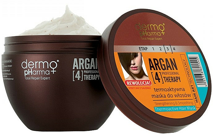 Thermo Active Hair Mask - Dermo Pharma Argan Professional 4 Therapy Strengthening & Smoothing Mask