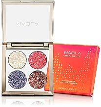 Fragrances, Perfumes, Cosmetics Eyeshadow Palette - Nabla Miami Lights Collection Glitter Palette