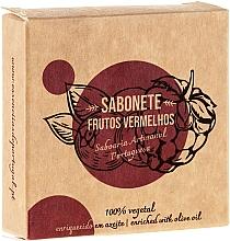 "Fragrances, Perfumes, Cosmetics Natural Soap ""Red Fruit"" - Essencias De Portugal Senses Red Fruits Soap With Olive Oil"