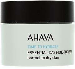 Fragrances, Perfumes, Cosmetics Moisturizing Cream for Normal & Dry Skin - Ahava Time To Hydrate Essential Day Moisturizer Normal to Dry Skin