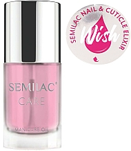 Fragrances, Perfumes, Cosmetics Nail and Cuticle Oil-Elixir - Semilac Care Nail & Cuticle Elixir Wish