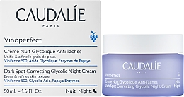 Anti-Dark Spot Night Cream with Glycolic Acid - Caudalie Vinoperfect Dark Spot Correcting Glycolic Night Cream — photo N2