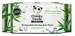 Fragrances, Perfumes, Cosmetics Wet Wipes, 64 pcs - The Cheeky Panda Biodegradable Bamboo Baby Wipes