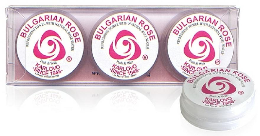 Refreshing Towel Set, 3 pcs - Bulgarian Rose Refreshing Towel With Natural Rose Water