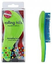 Fragrances, Perfumes, Cosmetics Hair Brush, green - Rolling Hills Detangling Brush Travel Size Shine Green