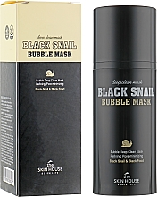 Fragrances, Perfumes, Cosmetics Oxygen Mask with Snail & Charcoal - The Skin House Black Snail Bubble Mask