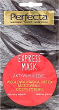 Fragrances, Perfumes, Cosmetics Charcoal and Green Clay Face Mask - Perfecta Express Mask