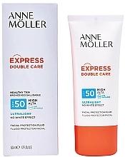 Fragrances, Perfumes, Cosmetics Facial Sun Fluid - Anne Moller Double Care Ultralight Facial Protection Fluid SPF50