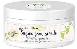 Fragrances, Perfumes, Cosmetics Green Tea Sugar Peel for Legs - Nacomi Sugar Foot Peeling