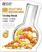 Fragrances, Perfumes, Cosmetics Vitamin C Facial Sheet Mask - SNP Jelly Vita Brightening Toning Mask