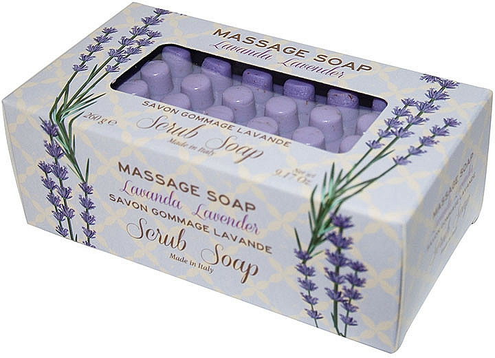 Lavender Massage Scrub Soap - Gori 1919 Massage Scrub Soap Lavender — photo N1