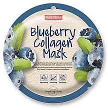 Fragrances, Perfumes, Cosmetics Collagen Blueberry Mask - Purederm Blueberry Collagen Mask
