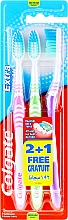 Fragrances, Perfumes, Cosmetics Medium Toothbrush, pink + green + purple - Colgate Extra Clean Medium