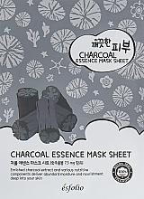 Fragrances, Perfumes, Cosmetics Charcoal Sheet Mask - Esfolio Pure Skin Essence Charcoal Mask Sheet