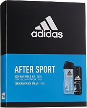 Fragrances, Perfumes, Cosmetics Set - Adidas After Sport (deo/150ml + sh/gel/250ml)