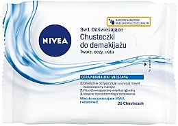 Fragrances, Perfumes, Cosmetics Refreshing Facial Wipes - Nivea Aqua Effect
