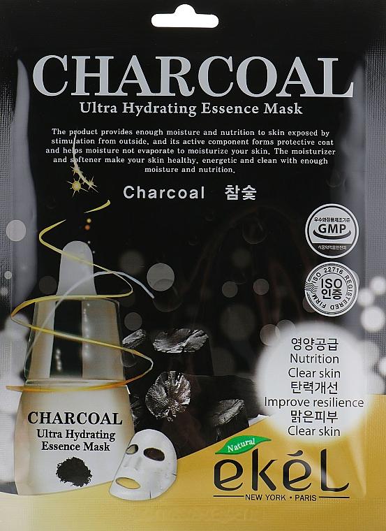 Charcoal Sheet Mask - Ekel Charcoal Ultra Hydrating Essence Mask