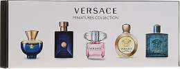 Fragrances, Perfumes, Cosmetics Versace Miniatures Collections - Set (edt/4x5ml + edp/1x5ml)