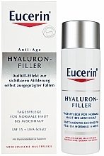 Fragrances, Perfumes, Cosmetics Anti-Wrinkle Day Cream for Normal & Combination Skin - Eucerin Hyaluron-Filler Day Cream For Combination To Oily Skin