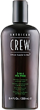"""Fragrances, Perfumes, Cosmetics Hair and Body Wash 3-in-1 """"Tea Tree"""" - American Crew Tea Tree 3-in-1 Shampoo, Conditioner and Body Wash"""