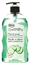 Fragrances, Perfumes, Cosmetics Cucumber & Aloe Vera Hand Liquid Soap - Bluxcosmetics Naturaphy Hand Soap