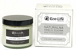 """Fragrances, Perfumes, Cosmetics Scented Candle """"Green Apple"""" - Eco Life Candles"""