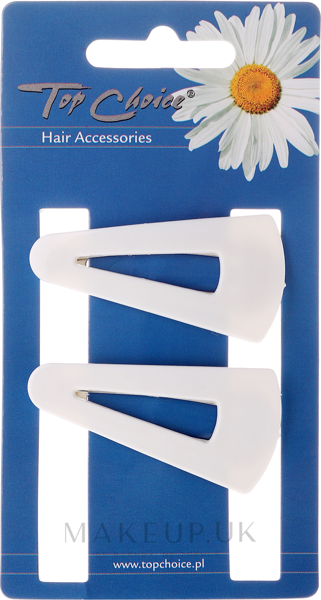 "Hairpin ""White Collection"" 23583, white, 2 pcs - Top Choice — photo 2 pcs."