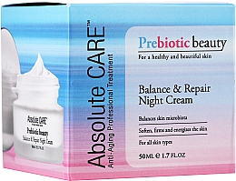 Fragrances, Perfumes, Cosmetics Balance & Repair Night Face Cream - Absolute Care Prebiotic Beauty Balance&Repair Night Cream