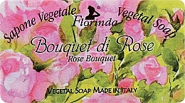 """Fragrances, Perfumes, Cosmetics Natural Soap """"Rose Bouquet"""" - Florinda Sapone Vegetale Vegetal Soap Rose Bouquet"""