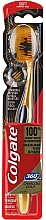 Fragrances, Perfumes, Cosmetics Toothbrush, soft, golden with black - Colgate 360 Charcoal Gold Soft Toothbrush