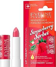"Fragrances, Perfumes, Cosmetics Lip Balm ""Strawberry Sorbet"" - Eveline Cosmetics Lip Therapy Proffesional Regenearting Lip Balm Strawberry Sorbet"