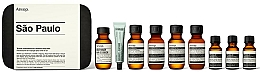Fragrances, Perfumes, Cosmetics Set - Aesop Sao Paulo Travel Essentials Kit (shm/50ml + cond/50ml + sh/gel/50ml + balm/50ml + m/wash/50ml +t/paste/10ml + toner/15ml + serum/15ml)