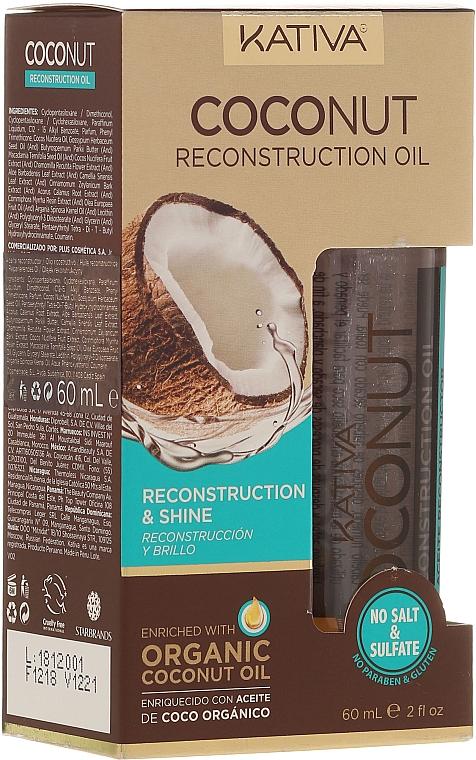 Repair Hair Oil - Kativa Coconut Reconstruction Oil