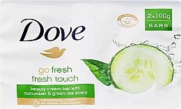 Fragrances, Perfumes, Cosmetics Body Cream-Soap - Dove Go Fresh Cream Bar With Cucumber & Green Tea Scent