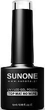 Fragrances, Perfumes, Cosmetics Matte No Wipe Gel Polish Top Coat - Sunone UV/LED Gel Polish Top Mat No Wipe