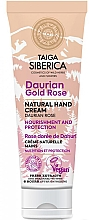 "Fragrances, Perfumes, Cosmetics Protective Hand Cream ""Daurian Rose"" - Natura Siberica Doctor Taiga Hand Cream"