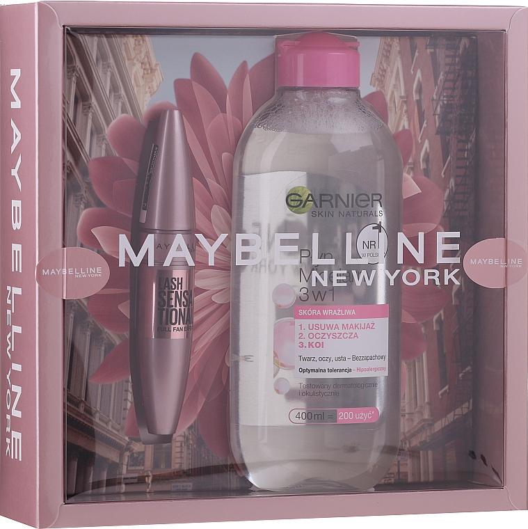 Set - Maybelline New York (mascara/9.5ml + micellar water/400ml)