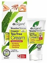 Fragrances, Perfumes, Cosmetics Soothing Face and Body Cream 'Tea Tree' - Dr. Organic Bioactive Skincare Tea Tree Cream