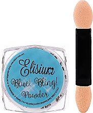 Fragrances, Perfumes, Cosmetics Nail Powder - Elisium Blue Bling Powder