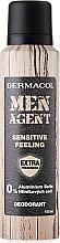 Fragrances, Perfumes, Cosmetics Deodorant - Dermacol Men Agent Sensitive Feeling Deodorant