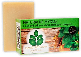 "Fragrances, Perfumes, Cosmetics Natural Soap ""Tea Tree Oil & Oregano"" - Powrot Do Natury"