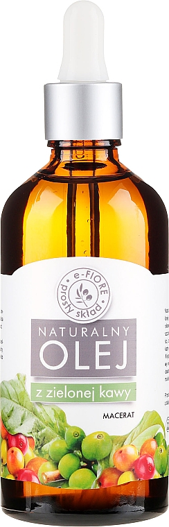 Anti-Cellulite Oil with Green Coffee Extract - E-Flore Natural Oil