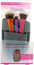 "Fragrances, Perfumes, Cosmetics Brush Organizer ""Grey"" - Real Techniques Single Pocket Expert Organizer Grey"