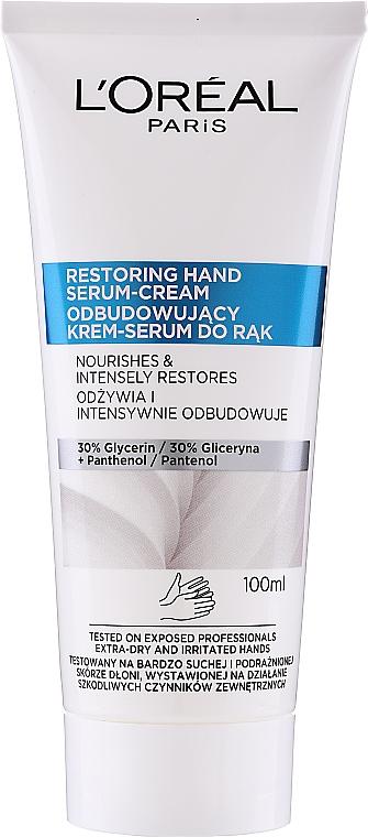 Hand Cream Serum - L'Oreal Paris Dermo Restoring Hand Serum-Cream