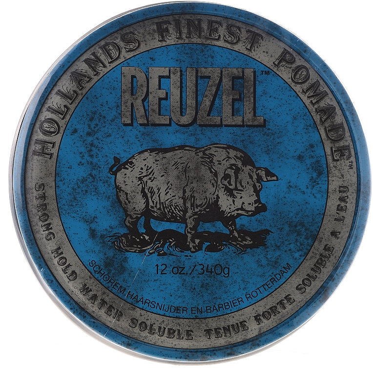Hair Styling Pomade - Reuzel Blue Strong Hold Water Soluble High Sheen Pomade