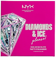 Fragrances, Perfumes, Cosmetics Highlighter Palette - NYX Professional Makeup Diamonds & Ice Please Diamond Highlighting Palette Quad