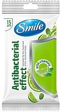 Fragrances, Perfumes, Cosmetics Vitamin Wet Wipes, 15pcs - Smile Ukraine Antibacterial