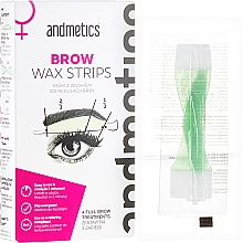 Fragrances, Perfumes, Cosmetics Set for Eyebrows Correction - Andmetics Brow Wax Strips Women (strips/4x2pc + strips/4x2pc + wipes/4pc)