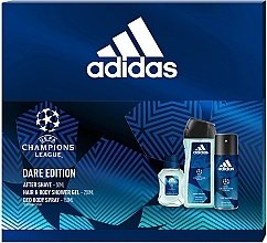 Fragrances, Perfumes, Cosmetics Adidas UEFA Dare Edition - Set (sh/gel/250ml + deo/spray/150ml + a/sh/lot/50ml)