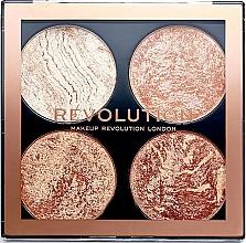 Fragrances, Perfumes, Cosmetics Contour Palette - Makeup Revolution Cheek Kit